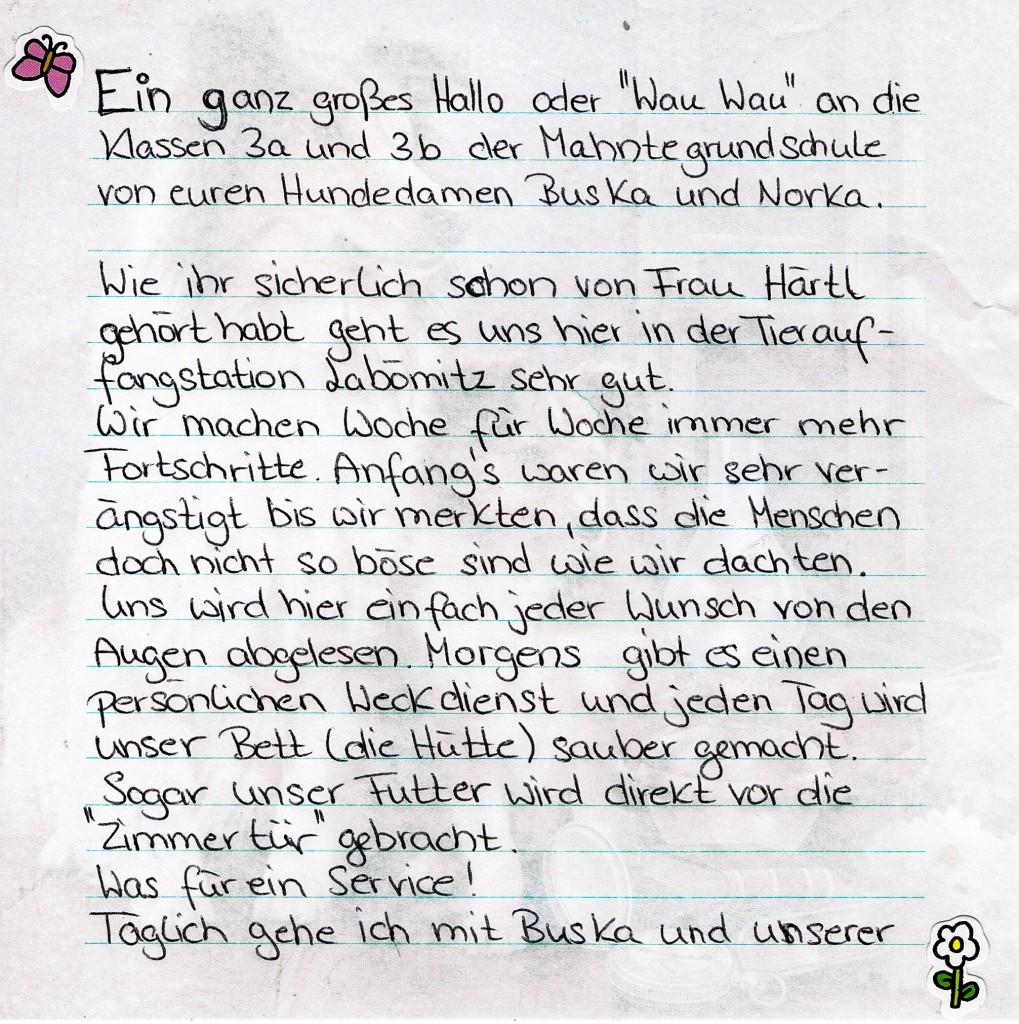 Brief Buska und Norka1