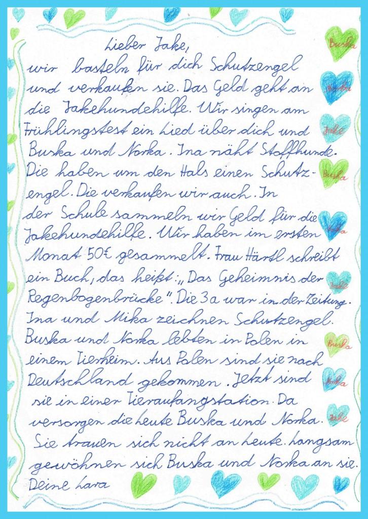 Laras Brief an Jake