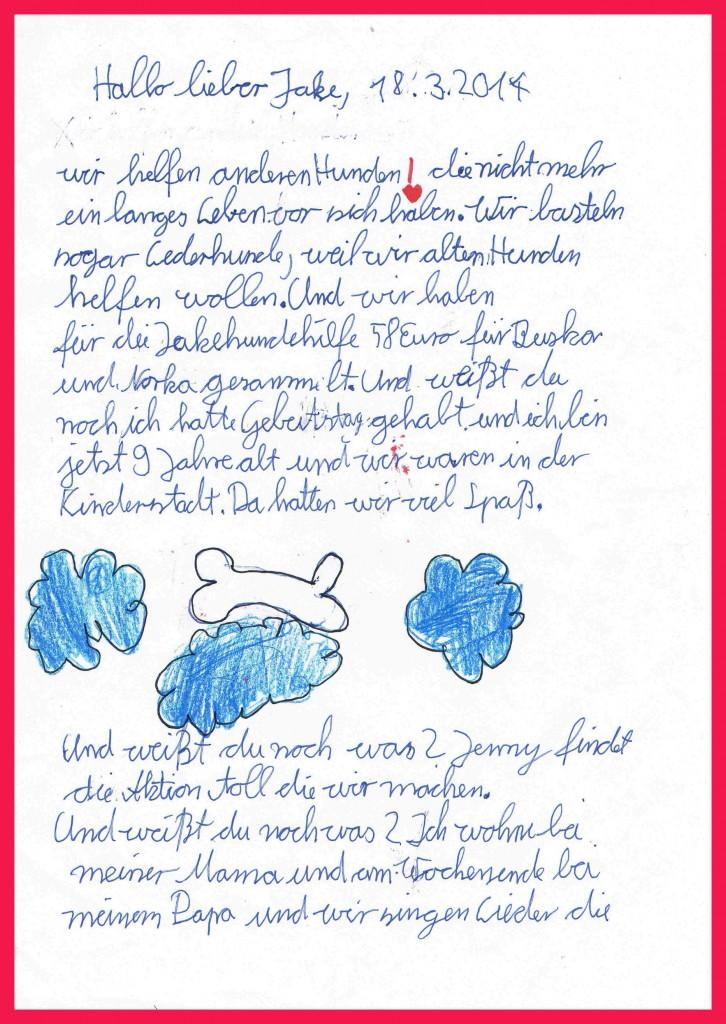 Sophies Brief an Jake