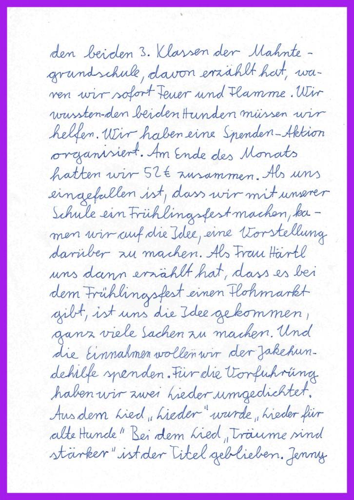 Mariekes Brief an Jake 2
