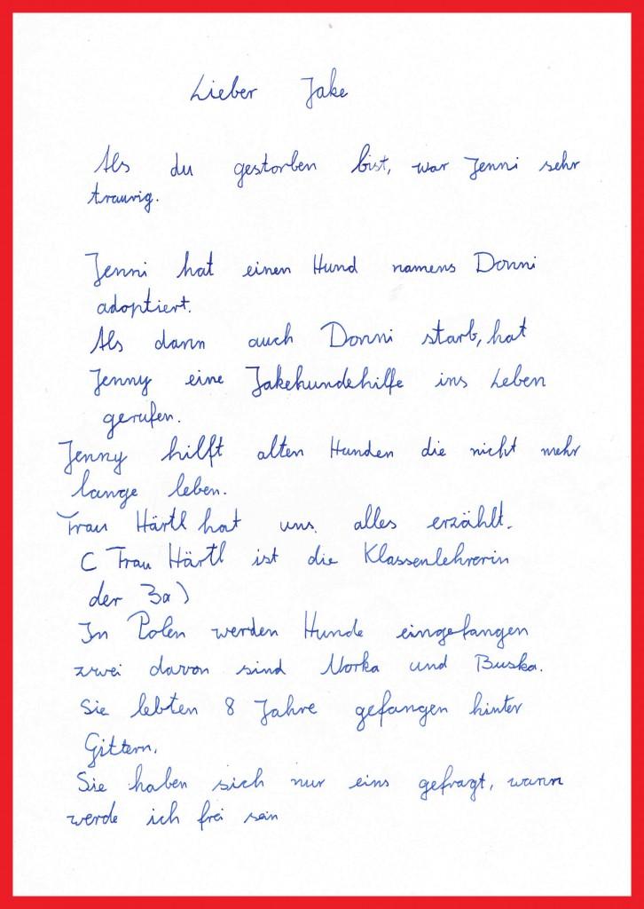 Sophias Brief an Jake