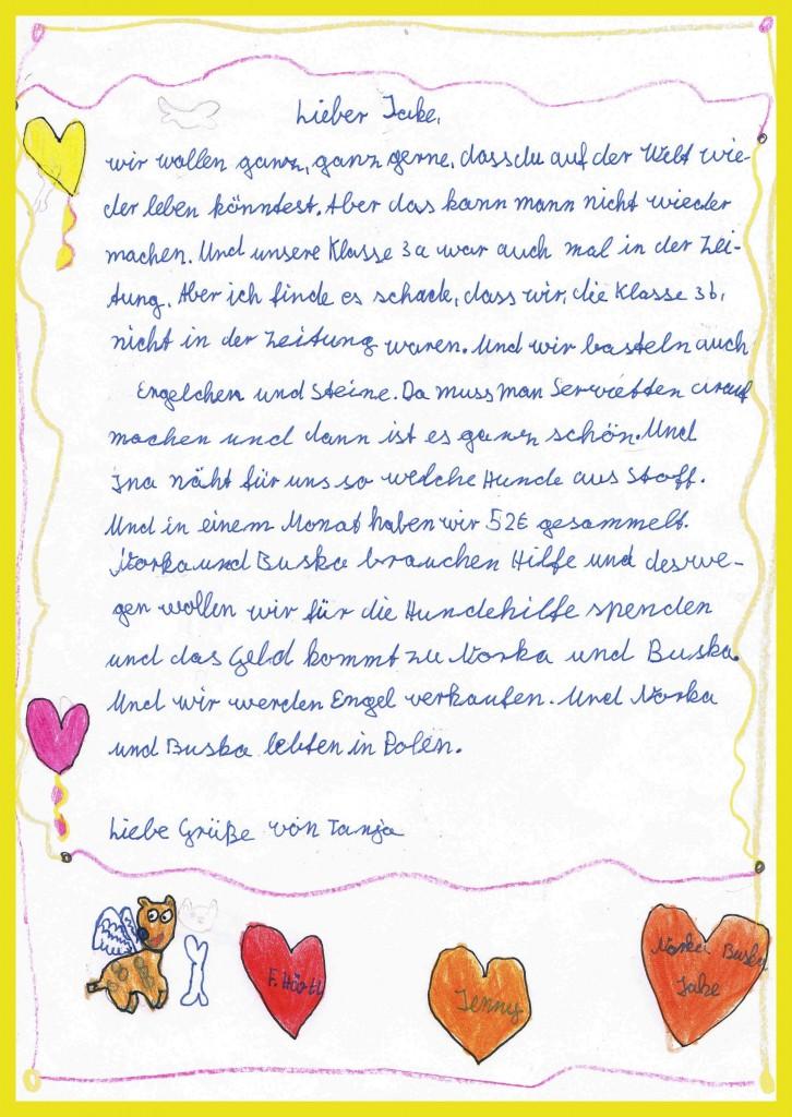 Tanjas Brief an Jake