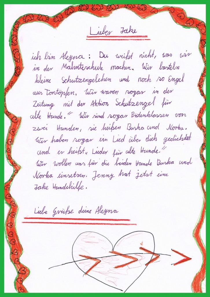 Aleynas Brief an Jake