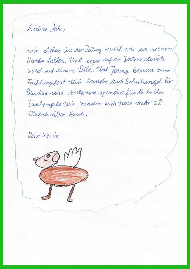 Kevins Brief an Jake