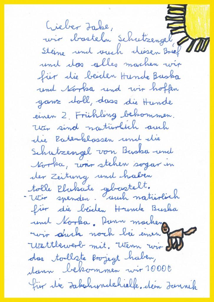Janniks Brief an Jake